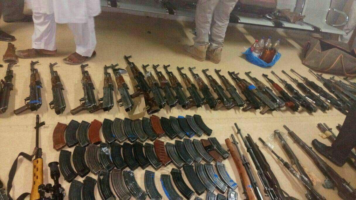 Jenis-jenis senjata yang diangkap di Bandara Sudan. Foto: Sudan tribune
