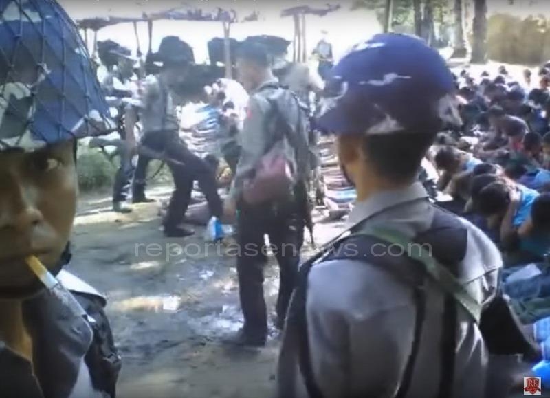 Video Polisi Myanmar siksa penduduk desa Rohingya menjadi viral
