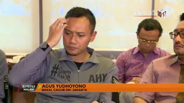 Agus Yudhoyono menggaruk-garukan kepalanya. (kompastv)