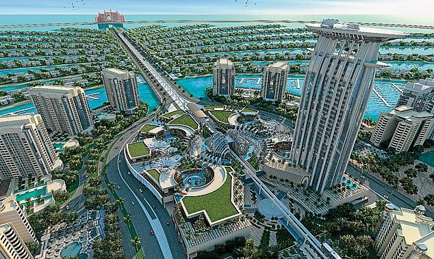 Palm Island di Dubai yang dibangun diatas tanahreklamasi