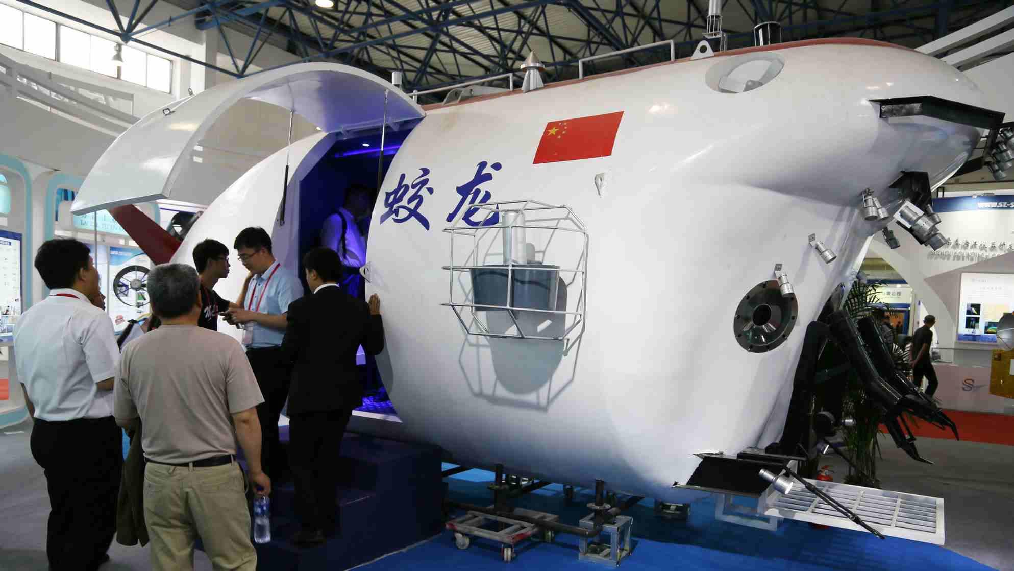 Jialong wahana kapal selam mini untuk riset bawah laut/ Xinhua