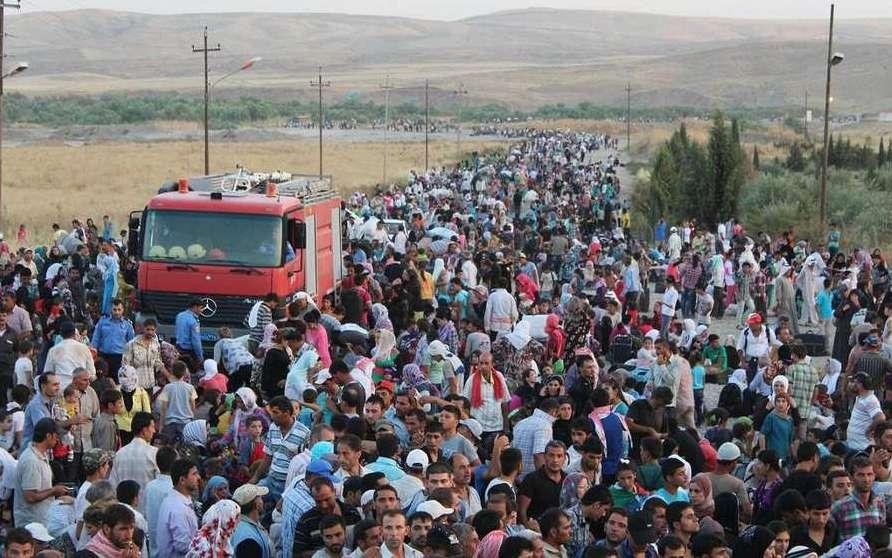 Pengungsi Suriah mencari perlindungan/ UNHCR