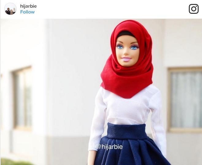 Hijarbie, boneka memakai pakaian hijab