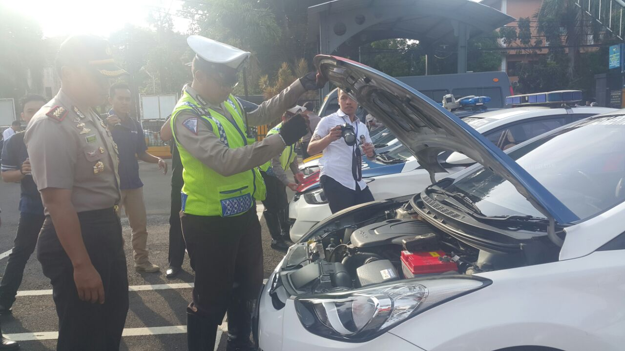 Kapolres Metro Tangerang Kombespol Hary Kurniawan tinjau persiapan operasi simpatik 2017