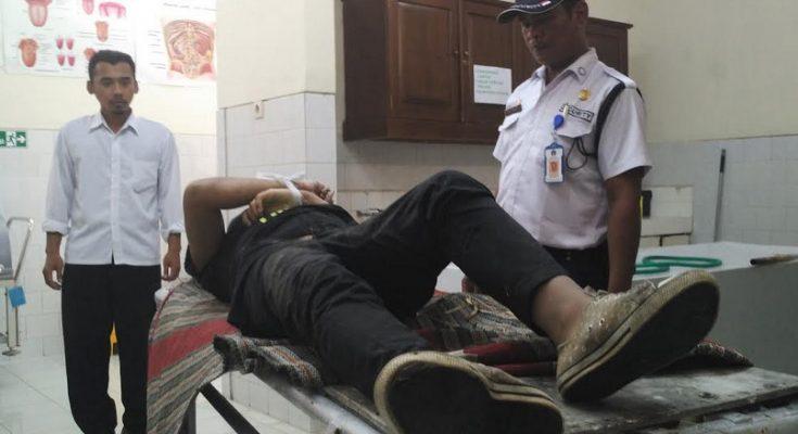 Jenasah Fitriatul Jannah di ruang jenasah RS Bhayangkara Kediri