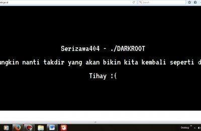 Tampilan Situs KPU Kabupaten Serang setelah dibobol hacker.