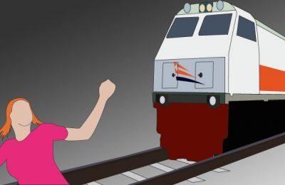 Ilustrasi dokter disambar kereta api. (ilustrasi : poskota)