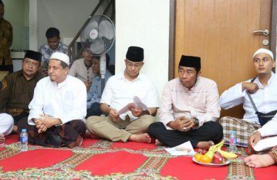 Anies hadiri sosialisasi hasil muktamar NU ke-30 tahun 1999 di kantor PWNU Jakarta, Utan Kayu Utara, Matraman, Jakarta Selatan, Sabtu (15/4).