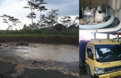 Galian sirtu ilegal, dump truk serta alat hisap pasir yang disita petugas. (foto: yos)