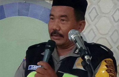 Alhamarhum anggota Kepolisian, Bhabinkabtimas Pakualam Polsek Serpong, Polres Tangerang selatan, Aiptu Sahabi (51).(foto : yar)