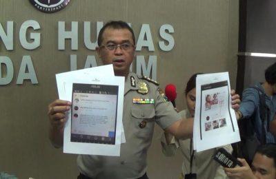 pemuda berinisial MS berusia 25 tahun, warga desa Martajasah Kabupaten Bangkalan Madura ditangkap tim Cyber Crime Ditkrimsus Polda Jawa Timur