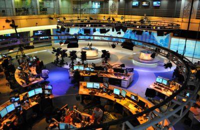 Studio utama di markas besar Al Jazeera, Doha, Qatar