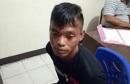 Salah seorang pelaku yang berniat menyerang Polres Bengkayang ditangkap polisi.
