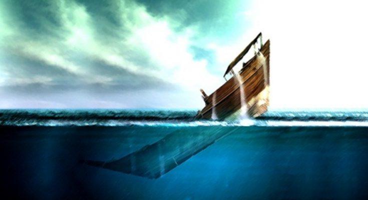 Ilustrasi kapal tenggelam. (ilustrasi joglo semar)