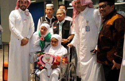 Maria Marghani Mohammed, atau Baiq Mariah, adalah jemaah haji tertua musim haji 2017 asal NTB, tiba di Jeddah