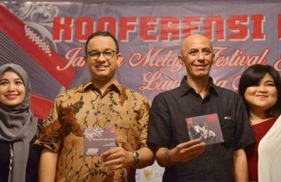Anies Baswedan saat Koferensi pers Jakarta Melayu Festival. (foto: istimewa)