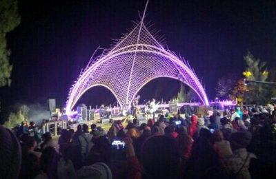 Suasana malam puncak Jazz Gunung di Bromo.(foto: dic)