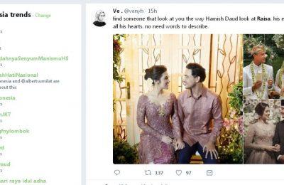 Artis cantik Raisa menikah dengan Hamish Daud