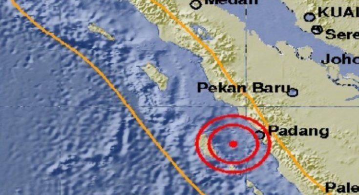 Saat melam Takbiran, Padang diguncang gempa 6,,2 Skala Richter. (foto: BMKG)