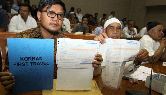 Jamaah korban penipuan first travel (istimewa)