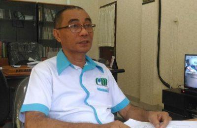 Kepala PDAM Jayapura Abdul M. Petonengan Saat Akan Memberikan Keterangan kepada Media Di Jayapura. (foto : riy)
