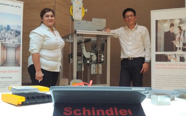 Schindler penyedia lift dan eskalator global dengan lebih dari 1.000 cabang di 100 negara, (foto:gus)