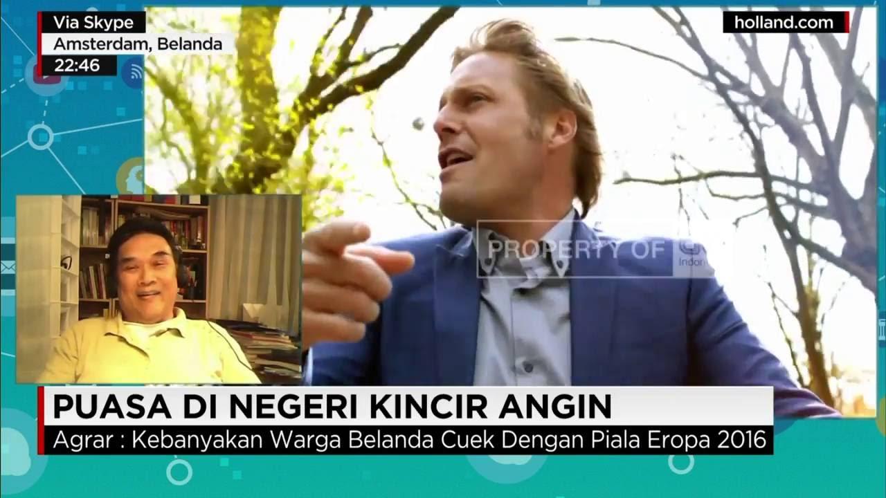 Agrar Sudrajat menjadi kontributor CNN Indonesia, ketika liputan bulan Ramadhan di Belanda. (Foto: Ist)