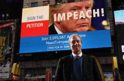 Miliarder Tom Steyer telah membiayai kampanye gencar senilai $ 20 juta untuk memecat Presiden Donald Trump/ WSJ