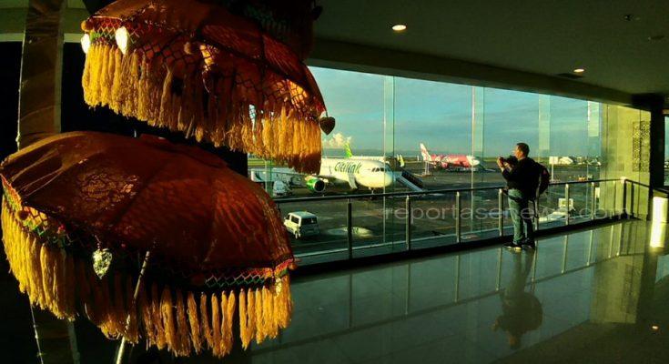 Ngurah Rai airport difoto Sabtu pagi 25/11 jam 7.00 WITA pagi/ Hsg