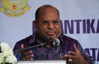 Gubernur Papua , Lukas Enembe. (foto:riy)