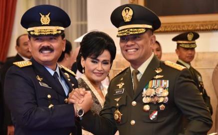 KSAU Marsekal TNI Hadi Tjahjanto dan Panglima TNI Gatot Nurmantyo. (foto. Istimewa)