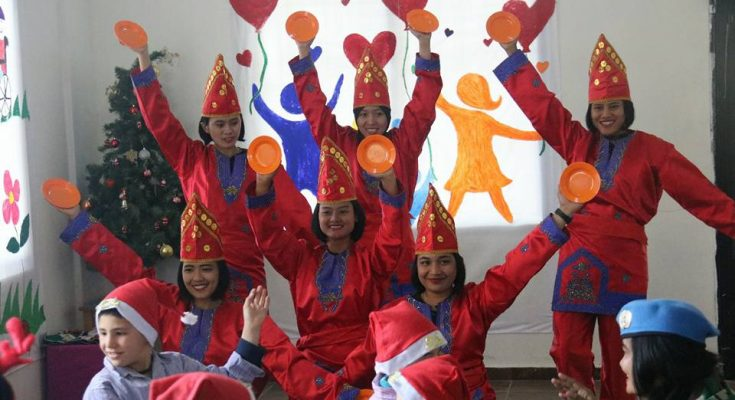 Program Cimic Satgas Indobatt Konga XXIII-L/Unifil yaitu mengunjungi Al-Farah School yang terletak di wilayah Eladeisse, Lebanon Selatan/ Pen Konga