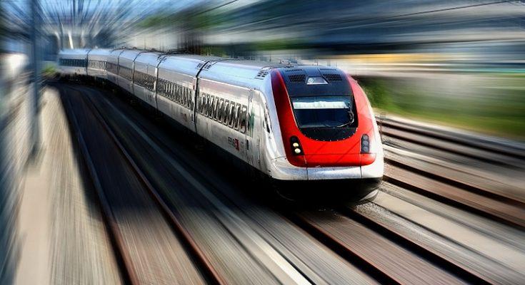 Ilustrasi kereta api cepat