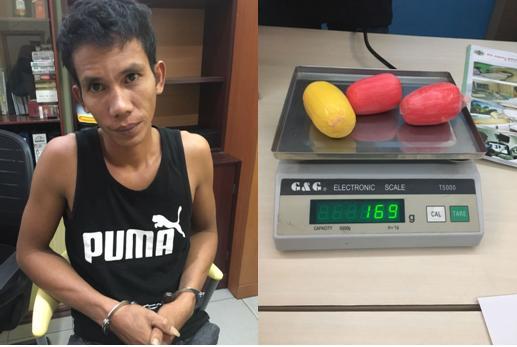 Anwar dan Barang bukti narkotika yang berhasil diamankan petugas. (foto:gus)