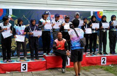 Atlet panahan Kabupaten  Situbondo juga meraih dua medali perak, dan dua medali perunggu.(foto:faat)