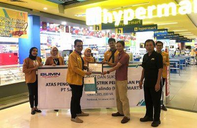 Hypermart Ayani Megamall resmi menikmati layanan premium dari PLN. (foto:das)