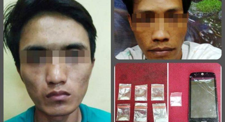 Dua tersangka pengedar sabu yang diringkus aparat Polsek Tambora. (Ist)