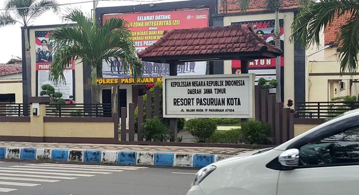 Mapolres Pasuruan Kota yang berada di Jalan Gajah Mada 19 Kota Pasuruan. (Foto : abd)