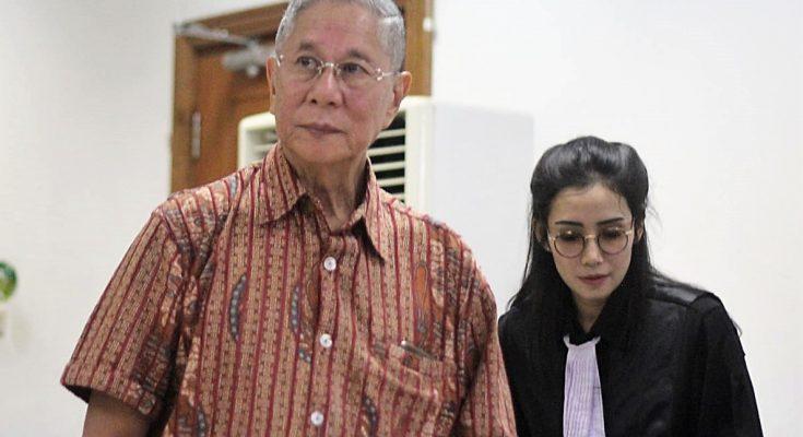 Terdakwa kasus mafia tanah,  mantan Presiden direktur Jakarta royale golf club, Muljono Tedjokusumo hadir dalam persidangan. (foto:ist)