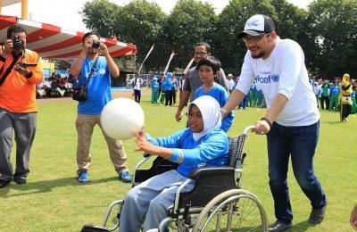 Para difabel yang bersemangat ikuti pertandingan olahraga inklusi. (Foto : abd)