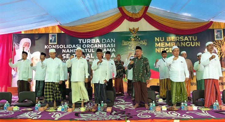 Kegiatan konsolidasi NU yang dihadiri ribuan jamiyah NU se Pantura, Minggu (31/3/2019) siang. (Foto : abd)