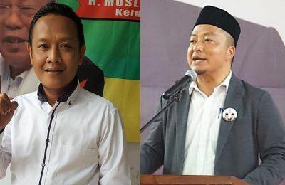 Ketua RGS Indonesia H Muslih Hasyim, HS (kiri) dan Ketua Tim Pemenangan Prabowo-Sandi Gresik dr H Asluchul Alif Maslichan (kanan). (foto: dik)
