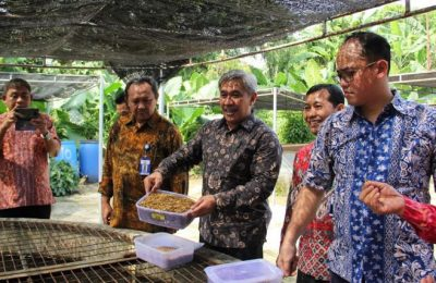 KPP resmikan Laboratorium Uji Balai Riset Budidaya Ikan Hias (BRBIH)  di  Depok, jawa Barat, Jumat (8/3/2019),