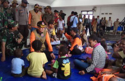 Kondisi pengunsian korban , banjir bandang Sentani, Jayapura, Rabu (20/3/2019).