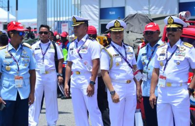 Wakil Kepala Staf Angkatan Laut (Wakasal) Laksamana Madya TNI Wuspo Lukito, S.E., M.M., di acara pembukaan Langkawi International Maritime and Aerospace Exhibition (LIMA) 2019 di Mahsuri International Exhibition Center, (MIEC) Malaysia, Selasa (26/3/2019).