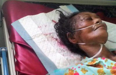 Korban saat dirawat di rumah sakit. (foto:fat)
