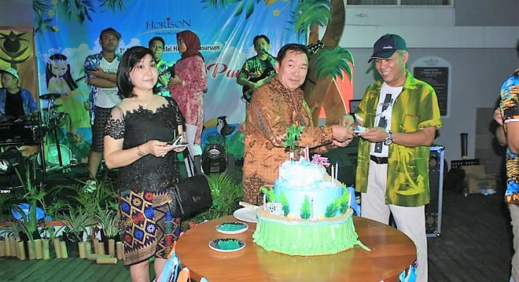 Puncak peringatan hari ulang tahun Hotel Horison Pasuruan yang kali pertama, Sabtu (20/4/2019) malam. (Foto : istimewa)