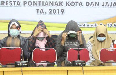 Penyidik unit Reskrim Polresta Pontianak menetapkan 3 tersangka kasus dugaan penganiayaan terhadap Audrey. (Foto/das)