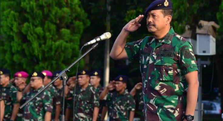 Apel khusus satuan TNI AL di Mabesal, Cilangkap, Senin (22/4/2019).