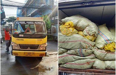 Truk yang mengangkut ganja kering seberat 300 kilogram dari Aceh tujuan Cilegon. (Ist)